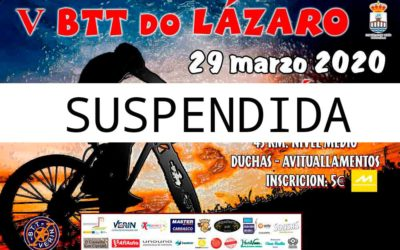 V BTT DO LÁZARO – SUSPENDIDA